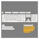 FATEGGS Keycap Set 140 Schlüssel PBT Keycap-Farbstoff-Sub-XDA- Personalisierte Minimalistische Weiße Honigmilch-japanische Keycaps Für Mechanische Tastatur Keycaps Cute (Color : Japanese Keycap)