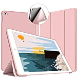 VAGHVEO Funda iPad Air 2, Ligera Silicona Soporte Smart Cover [Auto-Sueño/Estela], Cubierta Trasera de TPU Suave Cáscara para Apple 9.7 Pulgadas iPad Air 2 (Modelo: A1566, A1567), Rosa