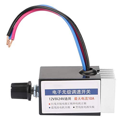 Interruptor controlador de velocidad del motor universal, regulador del motor DC 12 V / 24 V, para el control de los ventiladores del descongelador del calentador del ventilador del camión del coche