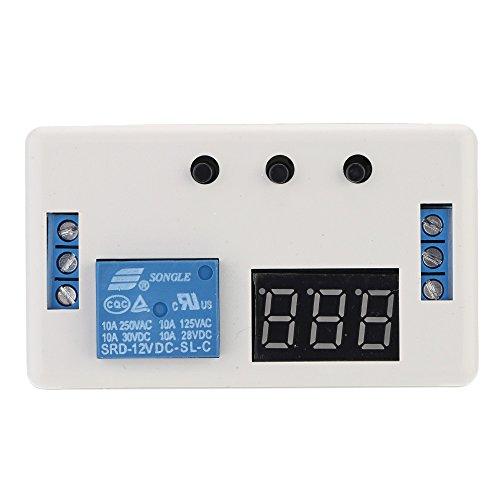 KKmoon Minuteur d'automatisation à LED Module de temporisation à relais de l'interrupteur de commande avec boîtier 12V