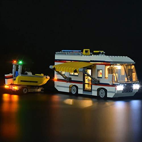 Kit De Iluminación Led para Creator Caravana De Vacaciones -Compatible con Ladrillos De Construcción Lego Modelo 31052(NO Incluido En El Modelo)