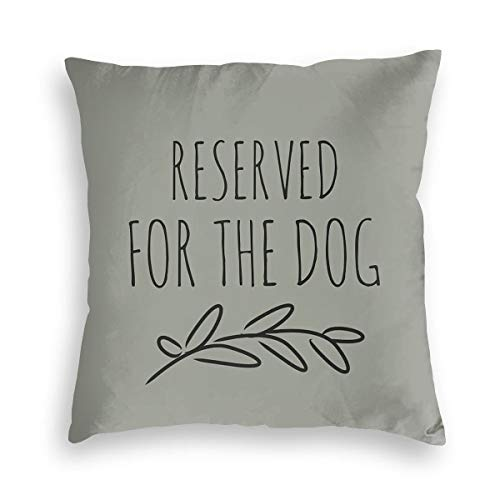 Reserved For The Dog Velvet Soft Decorative Square Throw Pillow Covers Cushion Case Pillowcases for Sofa Chair Bedroom Car 18X18inch