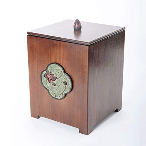 Vuilnisbakken, Creative Retro Vuilnisbak Met Deksel Licht Luxe Simple Indoor Vuilnisbak For De Woonkamer Keuken Kantoor Afval Recycle Bin 8L / 2.1gallon Afvalmanden (Color : Trash Can C)