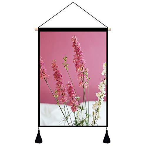 lsaiyy Grüne Pflanze Tapisserie wandbehang wanddekoration malerei einfache Schlafzimmer Hintergrund Tuch Bett hängen Tuch Stoff malerei W-596 65 * 45 cm wasserdicht leinwand