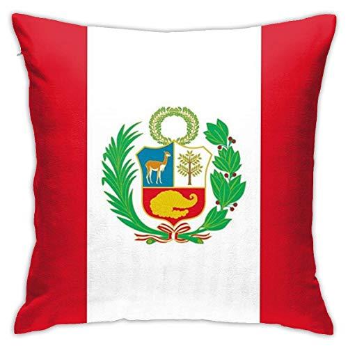 Square Throw Pillowcase Peru Flag Pillow Cushion Covers 45X45CM