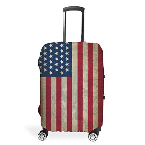 Flag-Mirror Creative Various Types Travel Suitcase Protective Cover Protective 18 to 32 Inch for Tour White m (60x81cm)