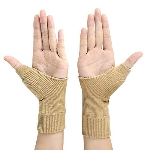Gel Wrist Support Brace, 1 Pair Gel Carpal Tunnel Wrist Brace Gel Thumb Hand Wrist Support Gloves for Tenosynovitis Typing Wrist Thumb Pain Rheumatism Arthritis