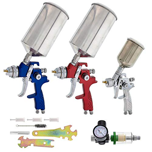 TCP Global HVLP Spray Gun Set for All Automotive