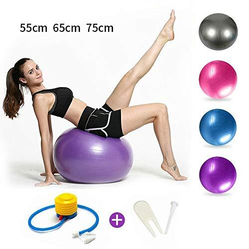 CyberSkin Sport Yoga Ball Fitness Balance Ball Pelota Pilates Ausrüstung Fitnessstudio,Rosa,55