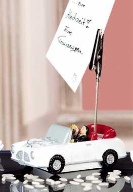 Fotoclip Hochzeitsauto 9,5 cm für Hochzeit