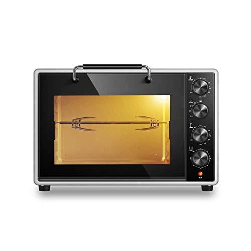 Electric oven ZLMI mini-oven met grote capaciteit, automatisch, roestvrij staal, 4 verwarmingsbuizen, braden, kippenvleugels, multifunctionele oven, inhoud: 40 liter, afmetingen: 51 x 39 x 35 cm