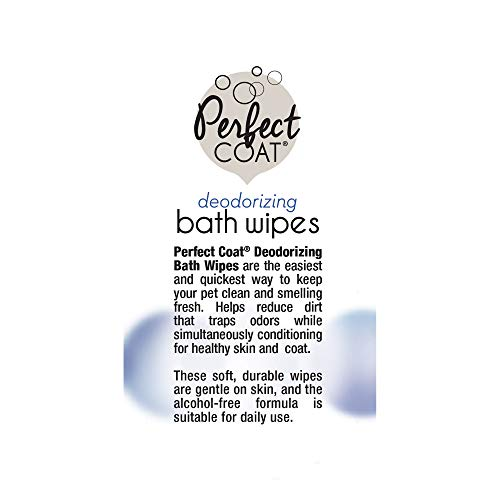 Perfect Coat Deodorizing Bath Wipes for Dogs, 100-Count (J7141TL)