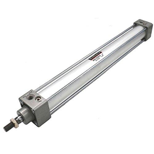Heschen Cilindro neumático estándar SC 32-500 PT1/8 puerto de 32 mm (1 1/4 ') Orificio de 500 mm (20 pulgadas) de carrera de una sola varilla de doble acción