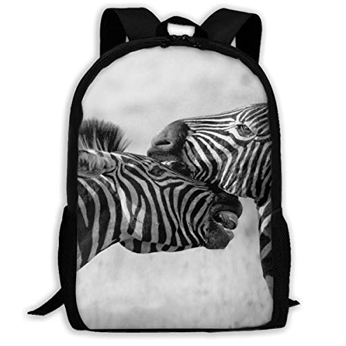 Zebra Wildlife Africa Safari College Bagzak, bedrukte kinderrugzakken voor volwassenen, outdoor-gym, 43 x 28 x 16 cm
