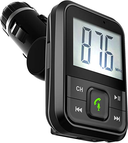 Supersonic IQ-205BT Bluetooth FM Transmitter with Large Display, Black