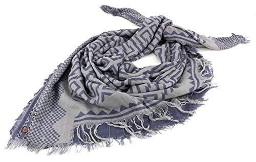 ESPRIT edc 2Tone Jacquard Square Scarf Grey Blue