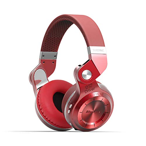 Bluedio Turbine 2 Shooting Brake T2SRCA001 -  Auriculares inalámbricos Bluetooth con micrófono plegable, color rojo