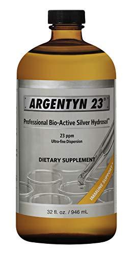 Argentyn 23® Professional Formula Bio-Active Silver Hydrosol for Immune Support* – 32 oz. (946 mL) Economy Size Twist Top Bottle – Colloidal Silver – Colloidal Minerals