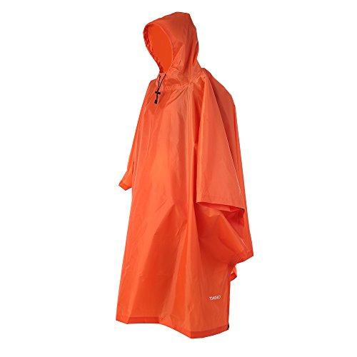 TOMSHOO Regenjacken Regenponcho wasserdicht Regenmantel für die Jagd Camping, Freizeit Regenmantel, Camouflage Rain Poncho (Orange)