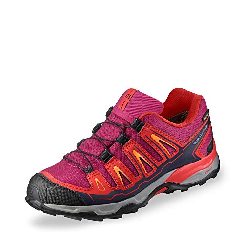 SALOMON Unisex-Kinder X-Ultra GTX J Trekking-& Wanderhalbschuhe, Rot (Sangria/Poppy Red/Bright Marigold 000), 33 EU