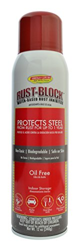 Rust-Block by Evapo-Rust, Super Safe, Non-Toxic, Biodegradable, Keeps Metal Rust Free for Up to 12 months, 12oz Aerosol Spray