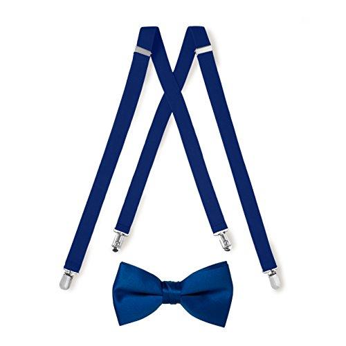 Royal Blue Suspender & Bow Tie Set (Adult)