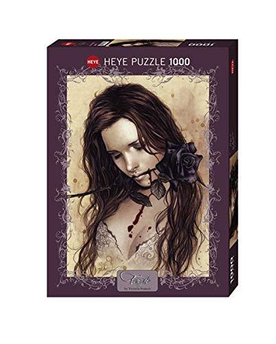 Paul Lamond Heye 29430 Victoria Francés - Puzzle (1000 Piezas), diseño de Chica con Rosa Negra