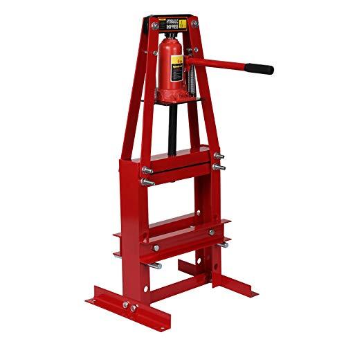WilTec Presse d'Atelier 6T Cadre-A avec Largeur de Travail 50 jusqu'à 110mm Presse hydraulique Auto Atelier