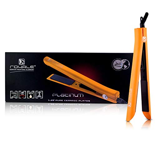 Lowest Price! Royale Platinum Genius Heating Element Hair Straightener with 100% Ceramic Plates - Or...