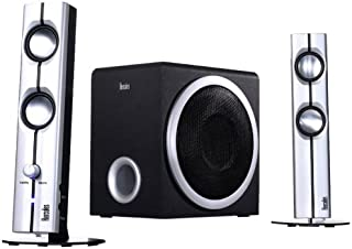 Hercules 4780711 Hercules XPS 2.1 40 Slim - speaker sets (2-way, 58 x 72 x 235 mm, 165 x 205 x 240 mm, PC, AC) Black