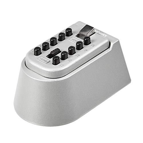 AmazonBasics - Caja de almacenamiento para llaves, cierre de combinación con botones, montaje en pared, color Gris