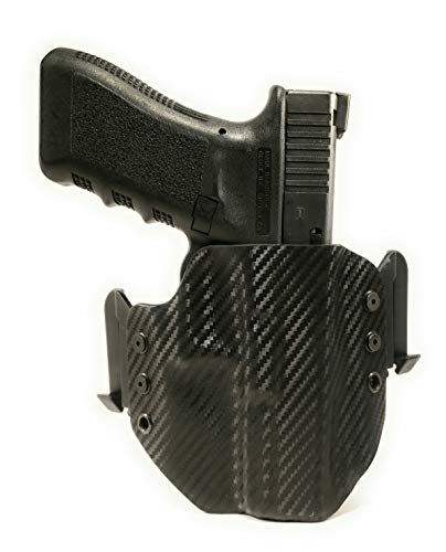 Tru-Fit Tactical OWB Gun Holster with Quick Clips (Carbon Black)