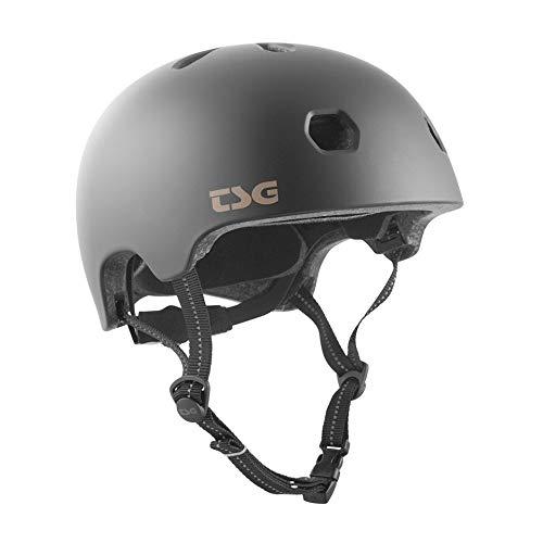 TSG Meta Skate & Bike Helmet in Satin Black w/Dial Fit System   for Cycling, BMX, Skateboarding, Rollerblading, Roller Derby, E-Boarding, E-Skating, Longboarding, Vert, Park, Urban