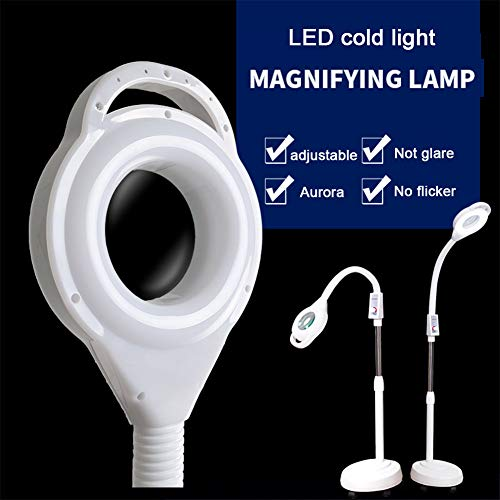 DNNAL Beauty Lamp, Tattoo Beauty Lamp Floor Lamp Magnifying Lamp LED Adjustable Cold Light Tools Supplies