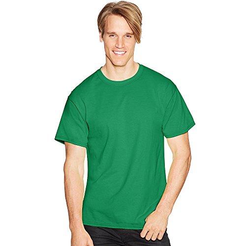 Hanes 5.2 oz., 50/50 ComfortBlend EcoSmart T-Shirt, XL, KELLY GREEN