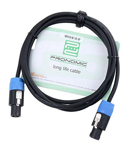 Pronomic BOXSP2-2.5 Lautsprecherkabel DJ PA Boxenkabel (Professionelles Boxenkabel, Speakon kompatibel, Länge 2,5m, säure- und ölfest, Spannzangen-Zugentlastung)