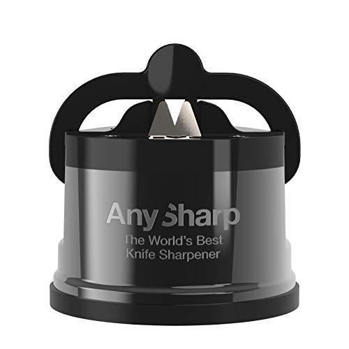 AnySharp Pro Aiguiseur de Couteaux (Métal) avec Ventouse, Gris
