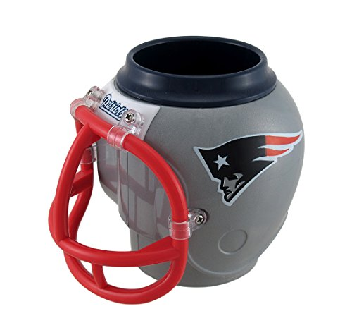 Zeckos NFL New England Patriots Helmet Shaped Can, Bottle Cooler Fan Mug