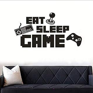 DIY English Letter Game Machine EAT SLEEP GAME Wall Sticker