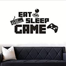 DIY English Letter Game Machine EAT SLEEP GAME Wall Sticker