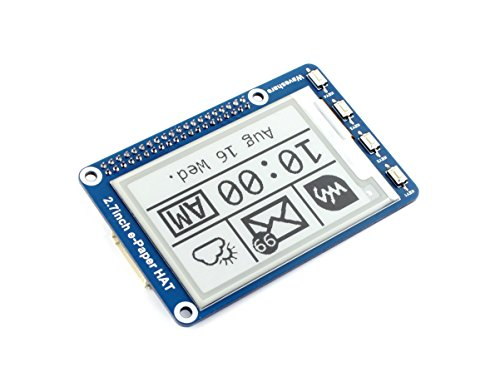 2.7inch E-paper Display Module 264x176 Resolution 3.3V/5V Two-Color E-Ink Display epaper Screen HAT for Raspberry Pi/Jetson Nano/Arduino/Nucleo Support Partial Refresh,SPI Interface
