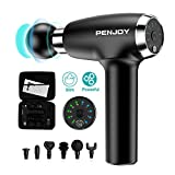 Massage Gun - PENJOY MG20 Powerful Handheld Massager, Rechargable Cordless Percussion Massager for Sore Muscle and Stiffness