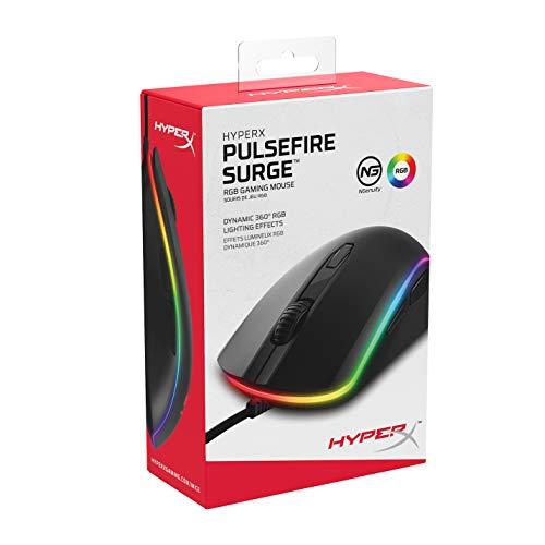 HyperXPulsefireSurgeRGBゲーミングマウスゲーマー向け光学式DPI調整可Omron製スイッチ2年保証HX-MC002B
