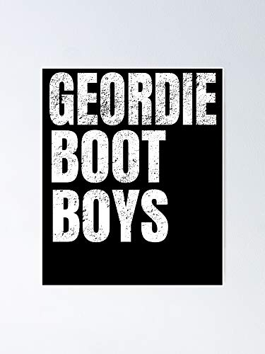 MCTEL The Geordie Boot Boys Poster 12x16 Inch No Frame Board for Office Decor, Best Gift Dad Mom Grandmother and Your Friends