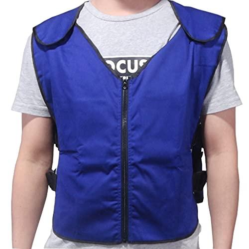 Verano Chaleco Enfriamiento con 20 Bolsas de Hielo PCS para Ms, Hombres Mujeres, Ciclismo, Corriendo, Cocinando, Jardinería Traje de Hielo Frío (Color : Blue, Size : One Size)