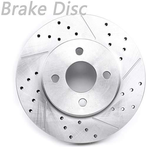 LONGKEES Disco de rotor de freno con ranura para ventilación, para Chevrolet Cobalt 2005-2010 2003-2007…