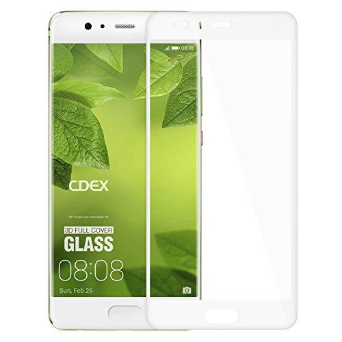 doupi FullCover Protector de Pantalla Compatible con Huawei P10 Plus, Cobertura Completa 3D 9H HD Duro Vidrio Templado, Blanco