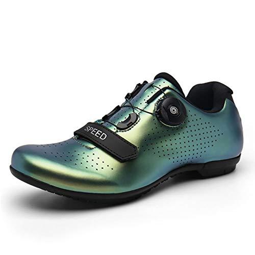 Zapatillas de ciclismo para hombre y mujer, transpirables, de piel nanopiel, antideslizantes, para deportes al aire libre, ligeras, para bicicleta de carretera, B, 39 EU
