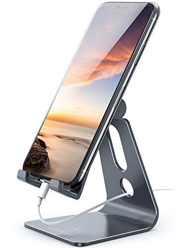 Supporto Telefono, Lamicall Dock Telefono : Multi-angolo Supporto Dock per Phone Xs Xs Max XR X 8 7 6 6S Plus 5 5S 4 4S, HUAWEI, Samsung S9 S8 S7 S6 S5 S4 S3, Scrivania, Altri Smartphone - Grigio