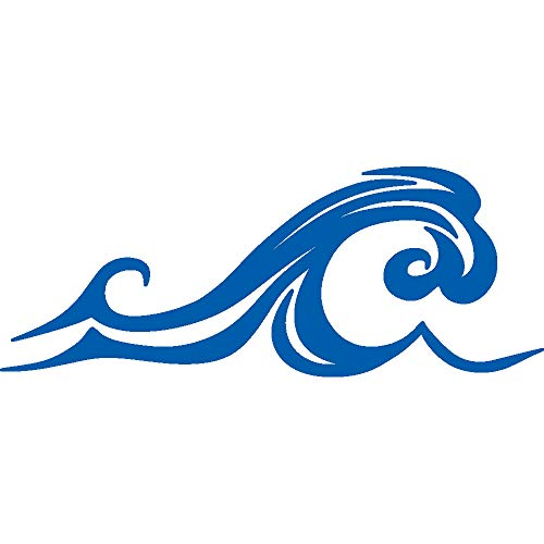 wave car window decal - 4